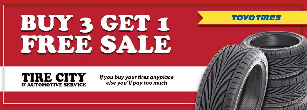 Buy 3 Get 1 Free Tires >> Toyo Tires Buy 3 Sale Tire City Automotive Service